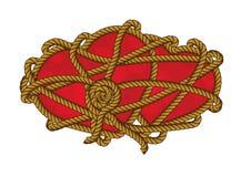 De kabel knoopt de Verbinding van het de Liefdeweb van de Hartensterkte Royalty-vrije Stock Afbeeldingen