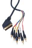 De kabel van de component stock afbeelding