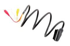 De kabel van de component voor TV royalty-vrije stock afbeeldingen