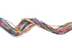 De kabel van de kleurencomputer Stock Foto