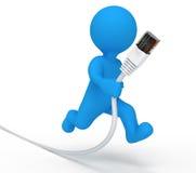 De kabel van de mensengegevens van de dienst Stock Afbeelding