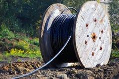 De kabel van de telecommunicatie Stock Fotografie