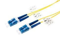 De kabel van de vezel royalty-vrije stock afbeeldingen