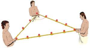 De kabel van Egyptenaren stock illustratie