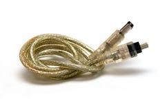 De kabel van Firewire Royalty-vrije Stock Foto's
