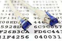 De kabel van het netwerk en encryptiesleutel Royalty-vrije Stock Foto's