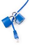 De kabel van het slot en van het netwerk royalty-vrije stock foto's