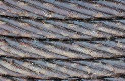 De kabel van het staal in vet Stock Afbeeldingen