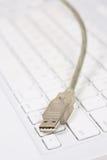 De kabel van Usb met toetsenbord stock afbeeldingen