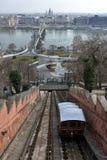 De kabelbaan van de het kasteelheuvel van Boedapest Royalty-vrije Stock Afbeeldingen