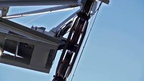 De kabelbaan van de mechanismekabel stock videobeelden