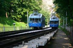 De kabelbaan van de spoorweg in Kiev Stock Afbeelding