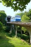 De kabelbaan van de spoorweg in Kiev Stock Foto