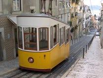De Kabelbaan van Lissabon stock afbeeldingen