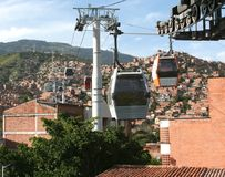 De Kabelbaan van Medellin Stock Fotografie