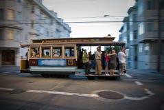 De kabelbaan van San Francisco in motie Royalty-vrije Stock Foto's