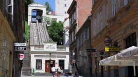 De kabelbaan van Zagreb stock videobeelden