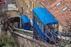 De kabelbaan van Zagreb Royalty-vrije Stock Afbeeldingen