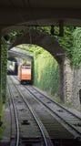 De kabelbanen van Bergamo, Italië Royalty-vrije Stock Foto