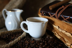 De kabelboek van de koffieboon Stock Afbeelding