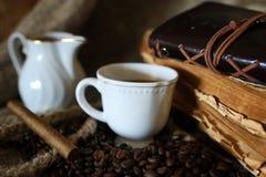 De kabelboek van de koffieboon Stock Foto's