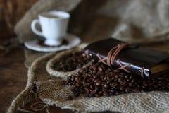De kabelboek van de koffieboon Royalty-vrije Stock Afbeeldingen