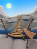 De kabelbrug van het beeldverhaal Stock Foto's
