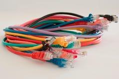 De kabelbundel van het netwerk Stock Afbeelding