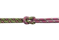 De kabels bonden in een dubbele platte knoop samen Stock Foto