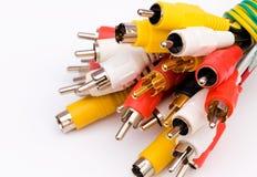 De kabels van de aansluting Stock Afbeeldingen