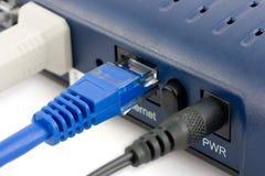 De kabels van de computer en van Internet Stock Afbeelding