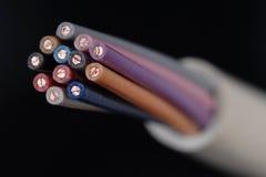 De kabels van de telefoon Stock Foto's