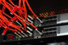 De kabels van de vezel stock foto