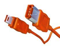 De Kabels van FireWire royalty-vrije stock afbeeldingen