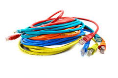 De kabels van het netwerk Stock Afbeelding