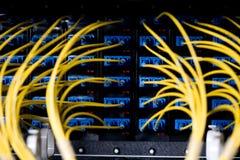 De kabels van het netwerk Stock Foto's