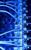 De kabels van het netwerk (blauwe toon) stock fotografie