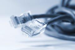 De kabels van het netwerk en van het flard royalty-vrije stock foto's