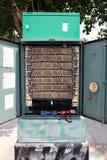 De Kabels van het telefoonnetwerk Stock Foto's