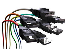 De kabels van Usb Royalty-vrije Stock Foto's