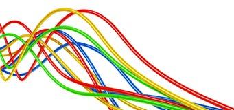 De kabels van Varicolored Royalty-vrije Stock Afbeeldingen