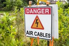 De Kabelsteken van de gevaarslucht Royalty-vrije Stock Foto