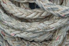 De kabelstextuur van de close-upmeertros royalty-vrije stock afbeelding