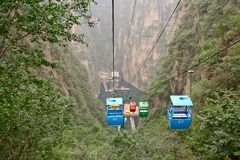 De kabelwagen Stock Afbeeldingen