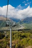 De kabelwagen aan de berg Stock Foto