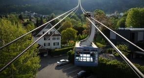 De kabelwagen Bregenz van Pfänder Stock Foto