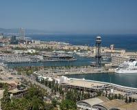 De kabelwagen van Barcelona royalty-vrije stock afbeeldingen