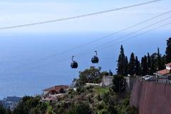 De Kabelwagen van Funchal, Madera Stock Afbeeldingen