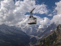 De kabelwagen van Monte Rosa Royalty-vrije Stock Foto