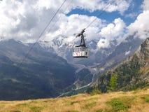 De kabelwagen van Monte Rosa Royalty-vrije Stock Afbeeldingen